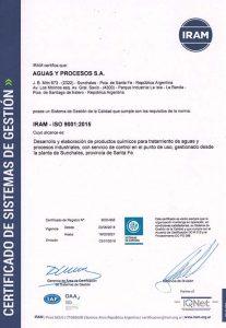 """IRAM: """"Certificado Gestión de la Calidad Norma ISO 9001:2015"""""""